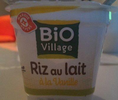 Riz au lait bio à la vanille - Prodotto - fr