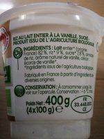 Riz au lait bio à la vanille - Inhaltsstoffe - fr
