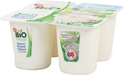 Yaourt brassé nature bio au lait entier - Product - fr