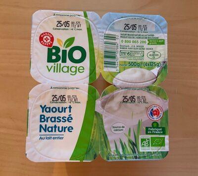 Yaourt brassé nature bio au lait entier - Voedingswaarden - fr