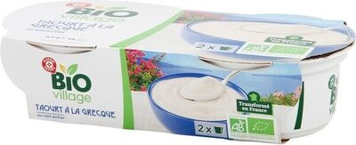 Yaourt à la grecque bio au lait entier x 2 - Produit