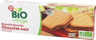 Goûters au blé complet fourrés chocolat noir bio - Produit - fr