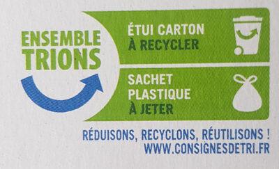 Goûters au blé complet fourrés chocolat noir bio - Instruction de recyclage et/ou information d'emballage - fr