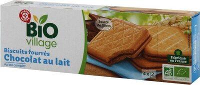 Goûters au blé complet fourrés chocolat au lait bio - Product
