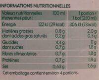 Mouliné de 7 légumes bio - Informations nutritionnelles - fr