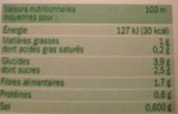Mouliné de 7 légumes bio - Voedingswaarden - fr