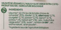 Velouté de légumes saveurs du sud bio - Ingrédients - fr