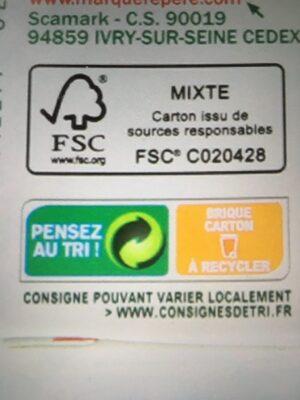 Velouté de légumes saveurs du sud bio - Instruction de recyclage et/ou information d'emballage - fr