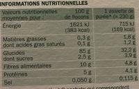 Purée nature bio 2 x 125 g - Voedingswaarden - fr