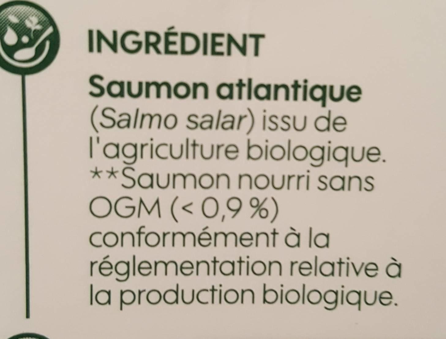 Paves de saumon bio - Ingrediënten - fr