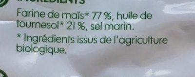 Tortillas chips nature bio - Ingredients - fr