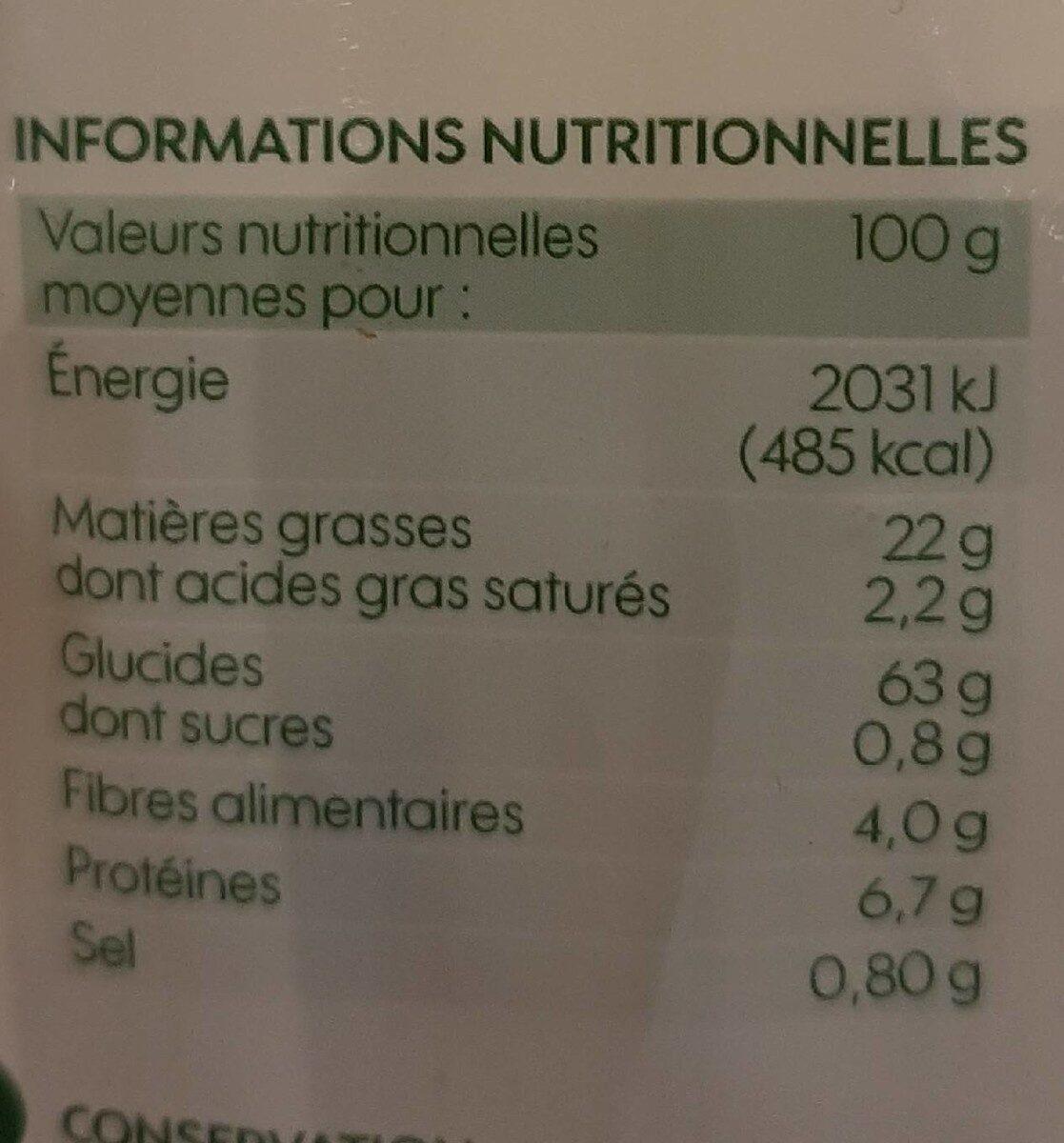 Tortillas chips nature bio - Nutrition facts - fr