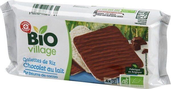 Galettes de riz nappées chocolat au lait - Produit - fr