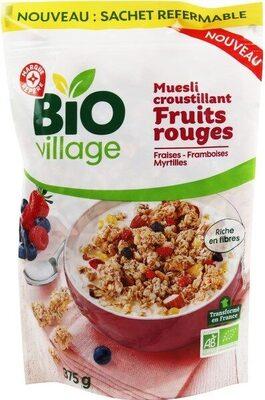 Muesli croustillant fruits rouge bio - Produit - fr