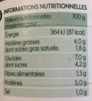 Sauce bolognaise Bio - Nutrition facts
