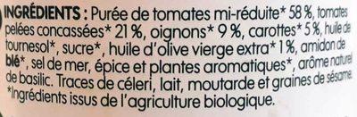 Sauce provençale bio - Ingrédients - fr