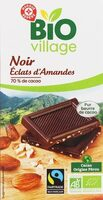Chocolat noir bio aux éclats d'amandes du Pérou Max Havelaar - Produit