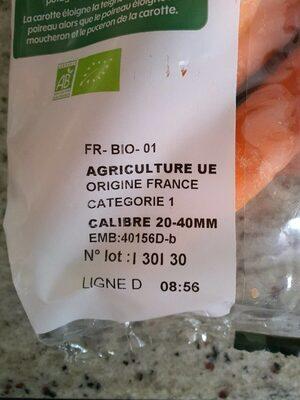 Carottes 1kg - Voedingswaarden - fr