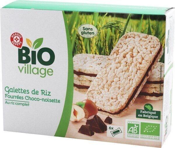Galettes de riz fourrées chocolat noisette bio x 6 - Product - fr