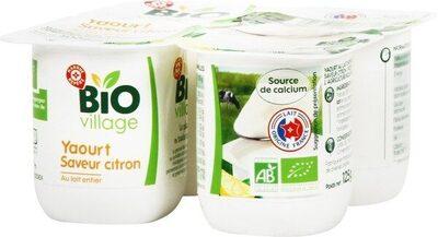 Yaourt au lait entier bio au citron - Produit - fr