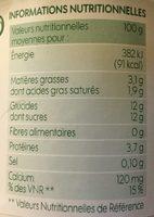 Yaourt au lait entier bio au citron - Informations nutritionnelles - fr