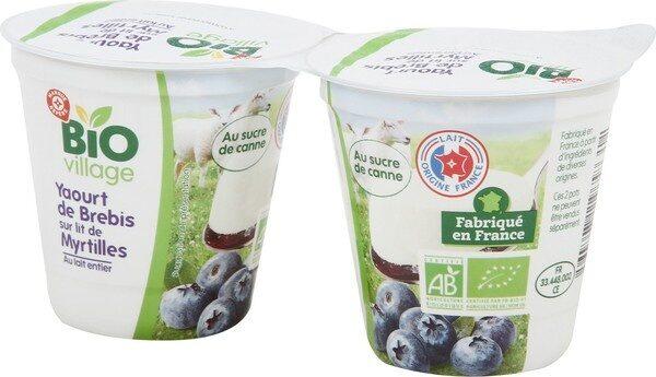 Yaourt au lait de brebis sur lit de myrtilles bio - Product - fr