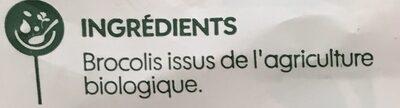 Purée 100% brocolis - Ingrediënten - fr