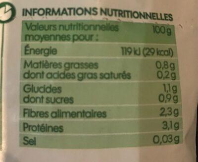Purée 100% brocolis - Voedingswaarden - fr