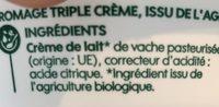 Mascarpone crémeux - Ingrédients