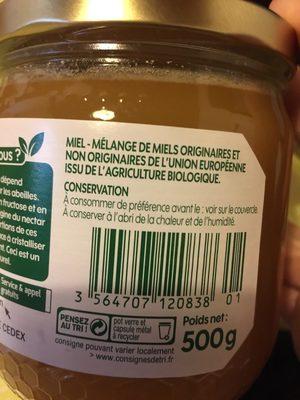 Miel cremeux de fleurs - Nutrition facts