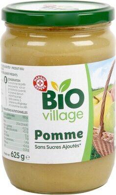 Purée de fruits pomme sans sucres ajoutés bio - Produit - fr