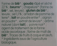 Biscuits salés gouda bio - Ingrédients - fr