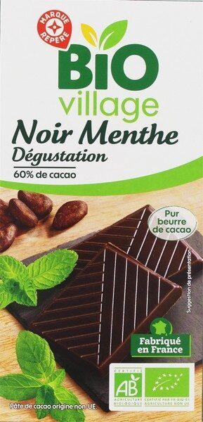 Chocolat noir 60 % cacao et menthe bio - Produit - fr