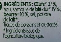 Quenelles nature bio - Ingrédients - fr