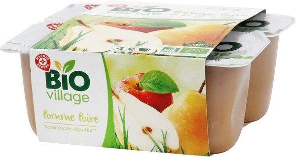 Compote pomme poire bio sans sucres ajoutés x 4 - Product - fr