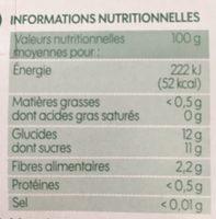 Compote pomme poire bio sans sucres ajoutés x 4 - Voedingswaarden - fr