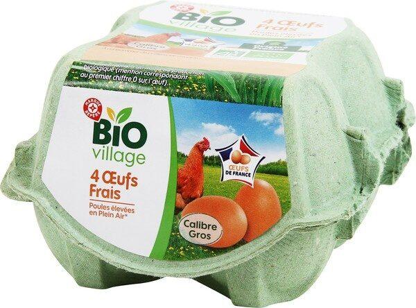 Oeufs biologiques de poules élevées en plein air x 4 - Product - fr