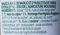 Pesto verde bio - Ingrediënten - fr