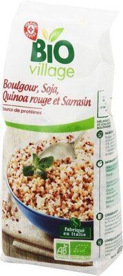 Mélange boulgour, soja, quinoa rouge et sarrasin bio - Product