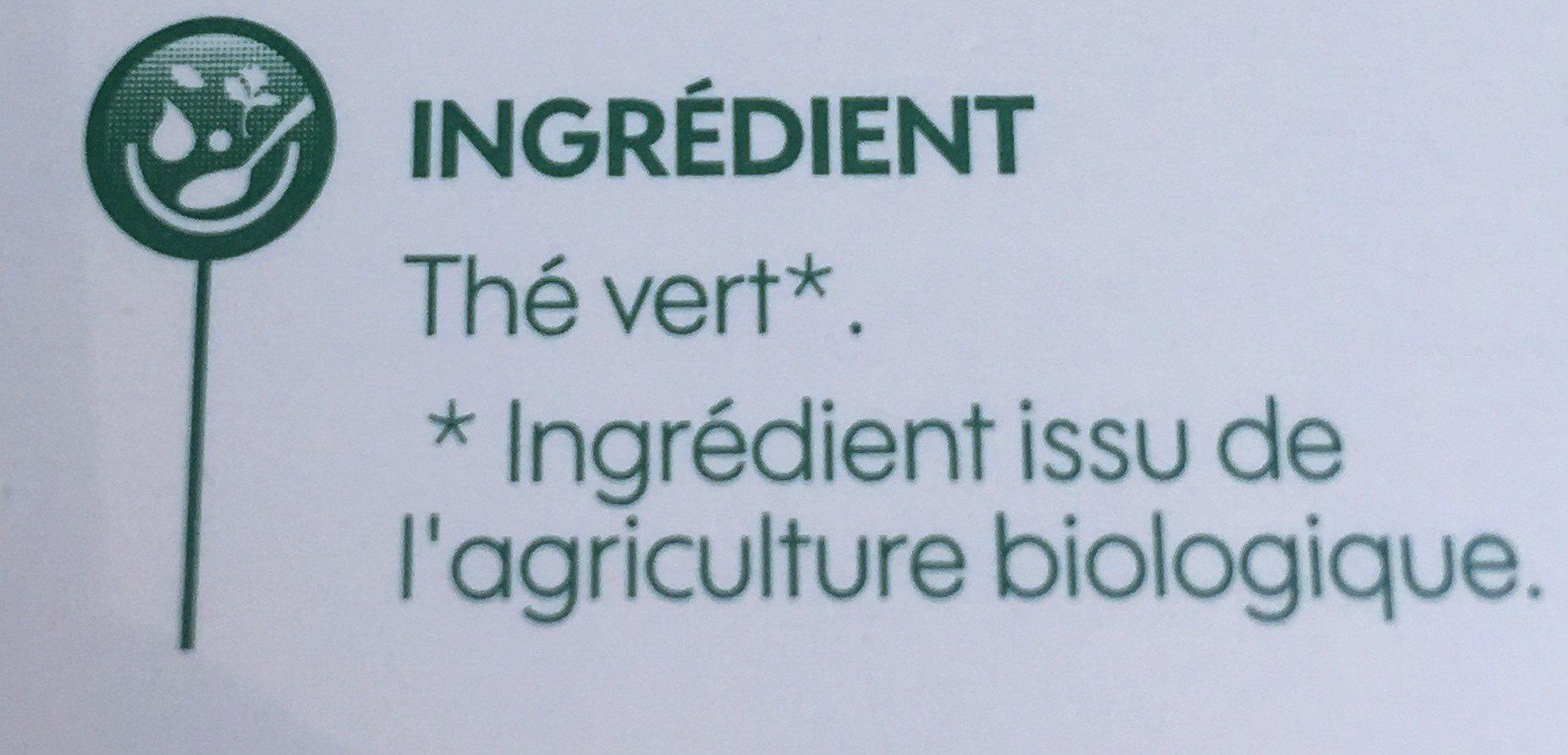 Thé vert nature bio x 20 sachets - Ingrediënten - fr