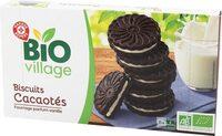 Biscuits cacaotés bio fourrés parfum vanille - Product - fr