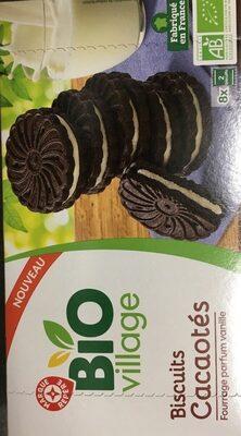 Biscuits cacaotés bio fourrés parfum vanille - Produit - fr