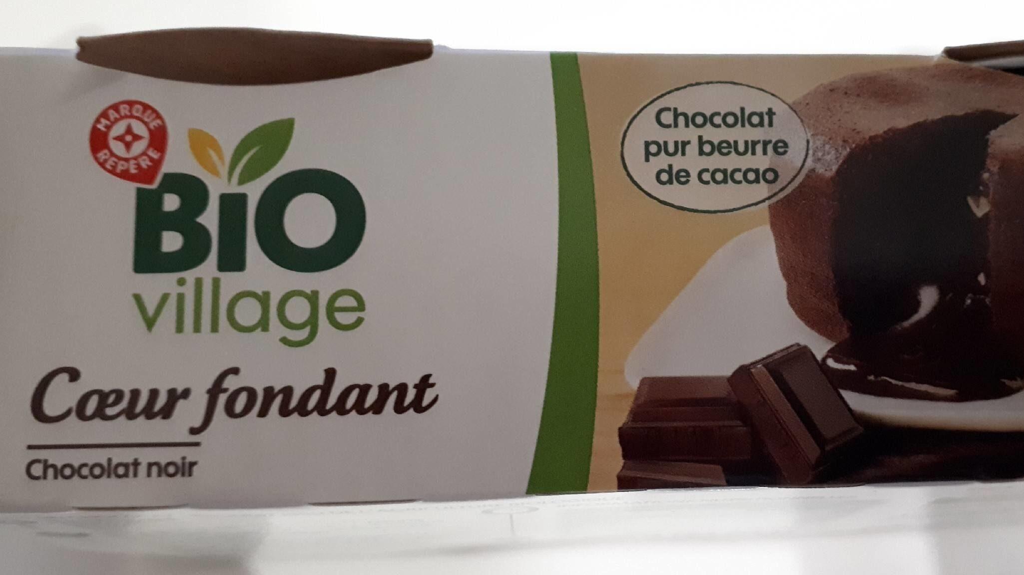 Coeur fondant chocolat noir bio x 2 - Produit - fr