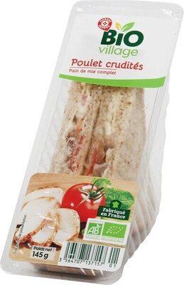 Sandwich club poulet crudités bio - Produit - fr