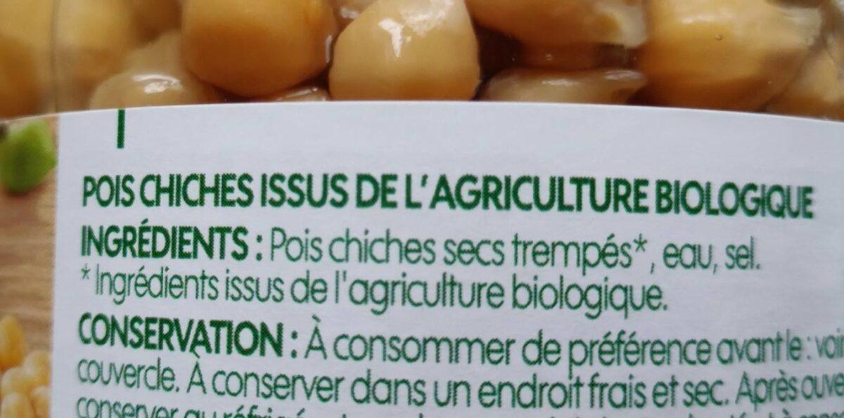 Pois chiches bio - المكونات - fr