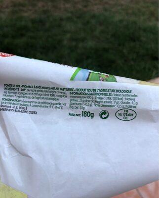 Pointe de brie bio 25% Mar. Gr. - Voedingswaarden - fr