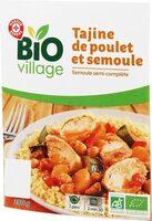 Tajine de poulet et semoule semi-complète bio - Produit