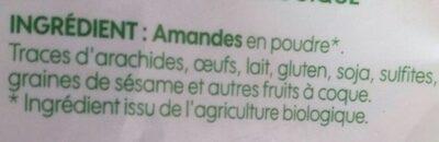Amandes en poudre - Ingrédients - fr