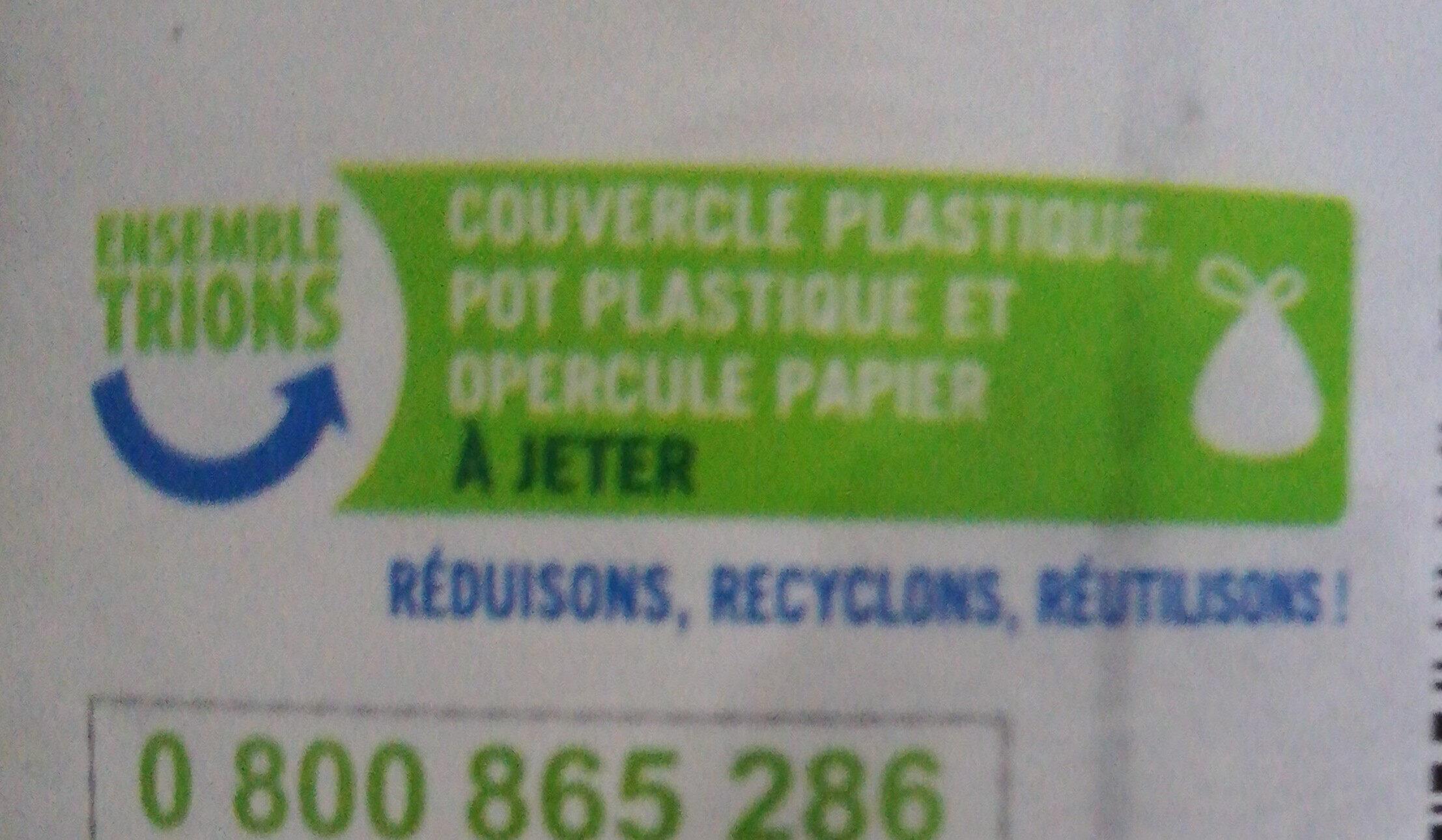 Pâte à tartiner aux noisettes - Instruction de recyclage et/ou informations d'emballage - fr