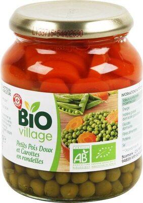 Petits pois et carottes en rondelles bio - Produit - fr